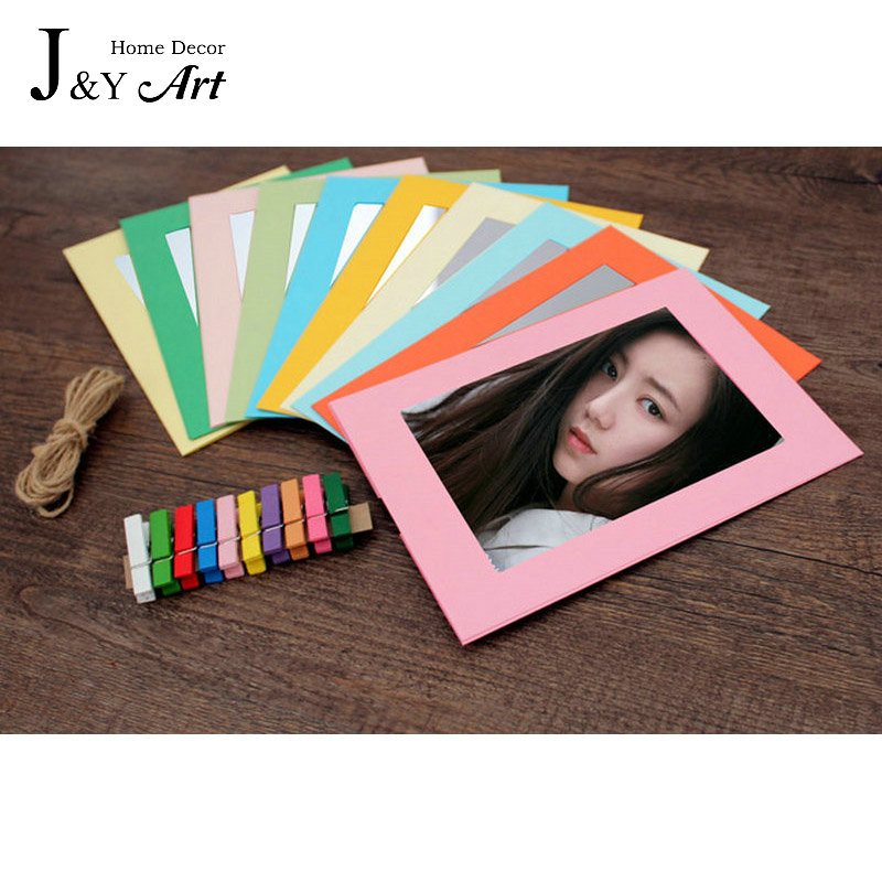 10 pcs/lot 3 Inch DIY Wall Hanging Colorfull Paper Photo Frame For Pictures photo J&Y Art Home Decor JY-342