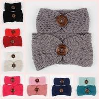 Fashion Hot Sale Mom And Baby Knit Headband Set Women Crochet Ear Warm Headwraps Turban Kids