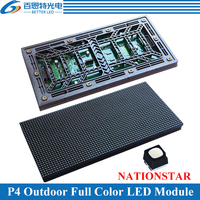Customized NATIONSTAR LED P4 Outdoor 256*128mm 64*32 pixels 1/8scan 3in1 RGB SMD1921 P4 Full Color LED Display Module