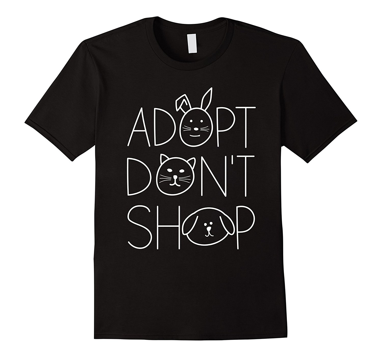 Adopt Dont Shop Animal Rescue T-Shirts for Animal Lovers Summer Short Sleeve Shirts Tops Big Size Cotton Tees Free Shipping