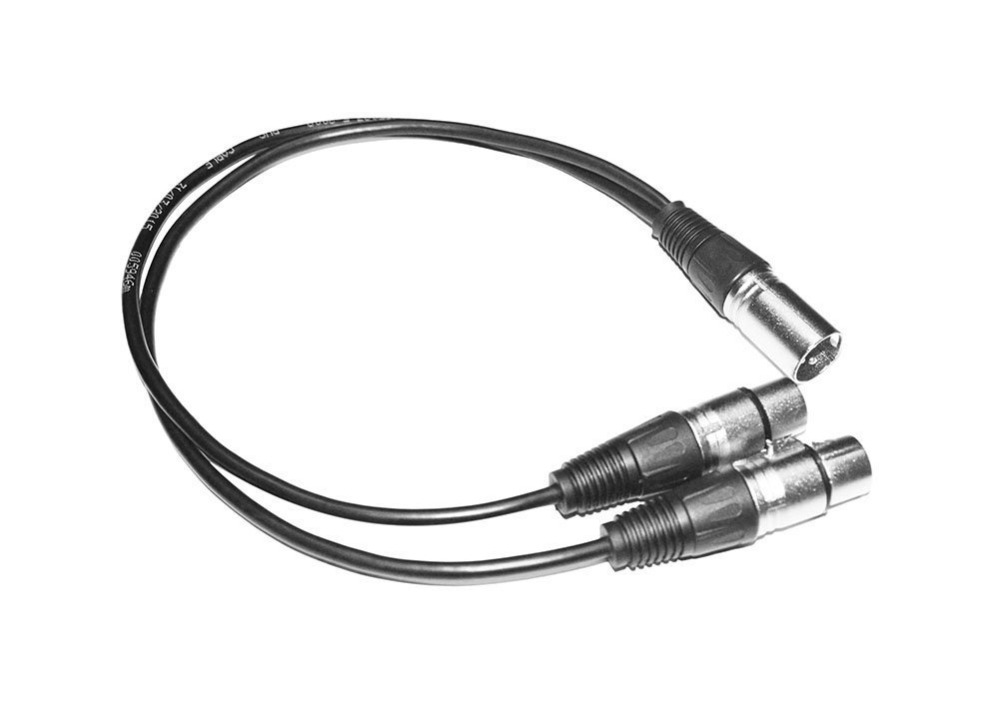 Free Shipping 3 Pin Xlr Splitter Y Adapter Male To 2
