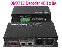 4CH DC12 24V RGBW DMX 512 Decoder led controller, RGB LED DMX512 decoder 4 Channel * 8A , Free shipping
