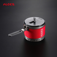 Alocs 1 3L 2 0L Water Bottle Outdoor Fast Heating Pot Camping Cookware Heat Exchange Kettle