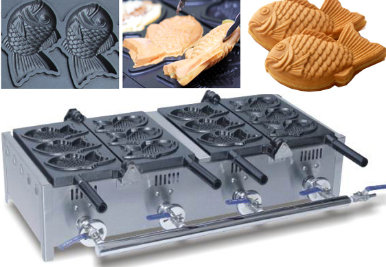 Double head electric taiyaki waffle machine_ Ice Cream Big Mouth Fish Waffle Taiyaki Baker 2017 new ice cream taiyaki machine ice ceram fish waffle maker ice cream big mouth fish waffle taiyaki baker