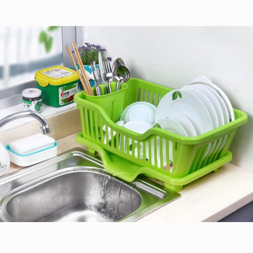 washing holder basket pp great kitchen sink dish drainer drying rack organizer blue pink white tray - Kitchen Sinks Price