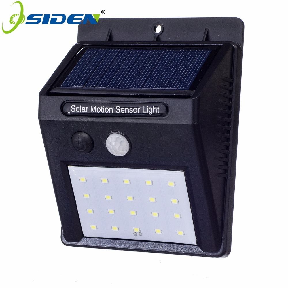 OSIDEN Waterproof 20 LED Solar Light Solar Panels Power PIR Motion Sensor LED Garden Light Outdoor Pathway Sense Solar Lamp Wall аксессуар для экшн камер gopro набор для смены линз alnrk 301