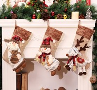 New Arrival 2016 Hot Sale Christmas Stocking Sequins Socks Shining Xmas Tree Oranment Gift Bag Snowman