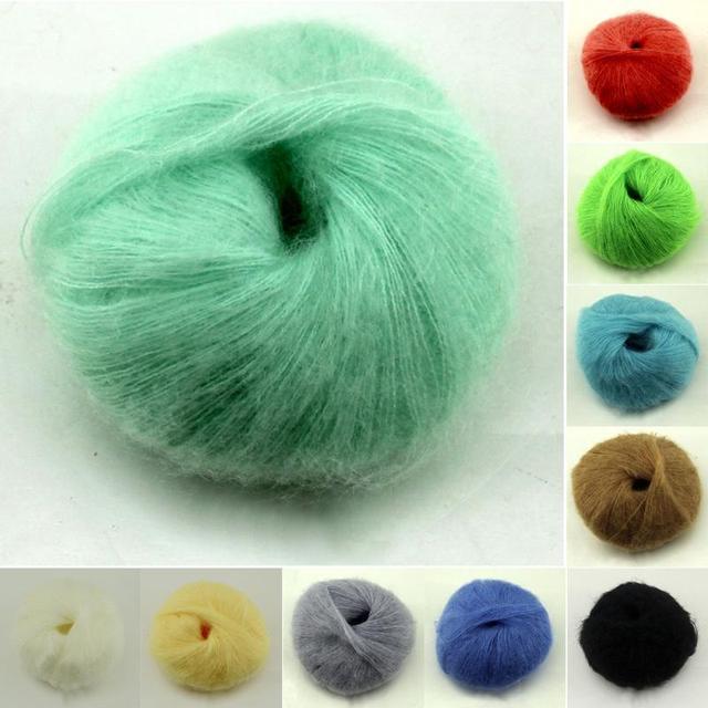 25 г пряжи вязание шерсть мохер вязание мягкой пряжи дрочит