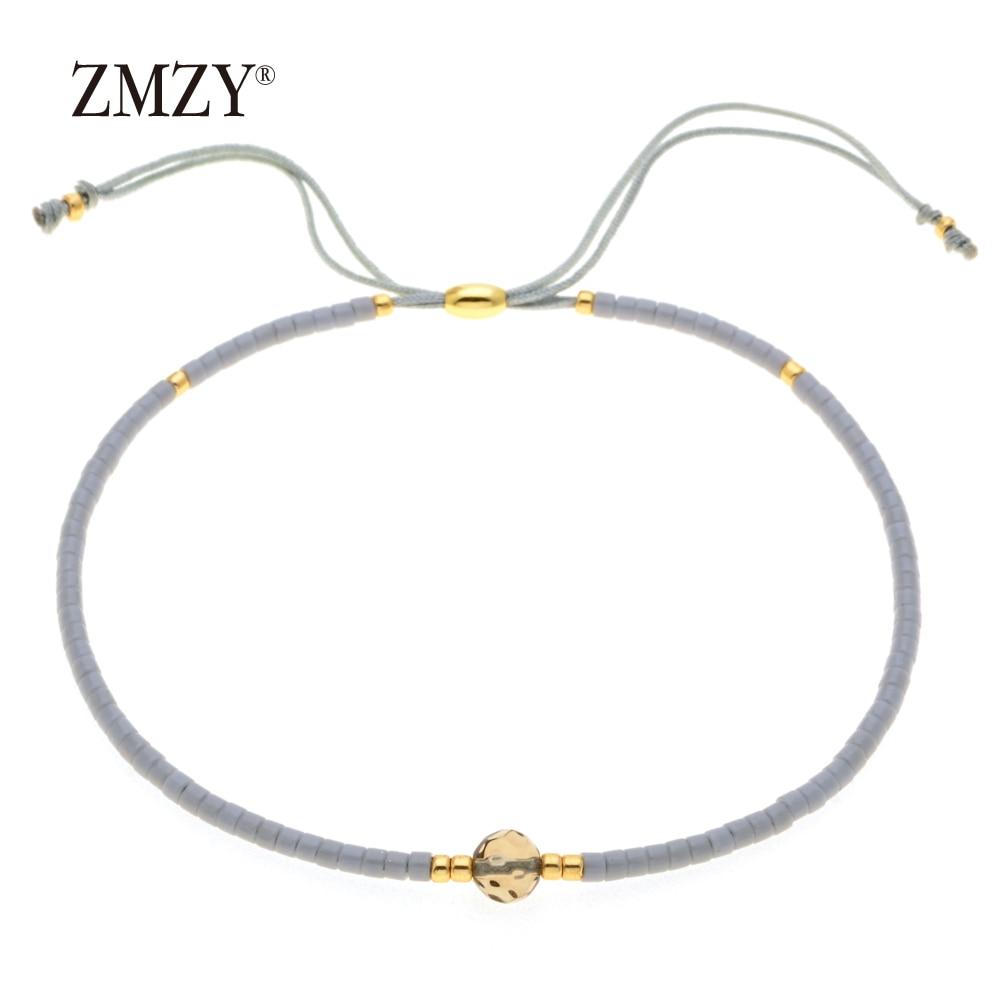 ZMZY Miyuki Delica, бисер, женские браслеты, ювелирные изделия дружбы, модные, сделай сам, Bijoux Femme, простые браслеты, Прямая поставка - Окраска металла: QSSL003-16