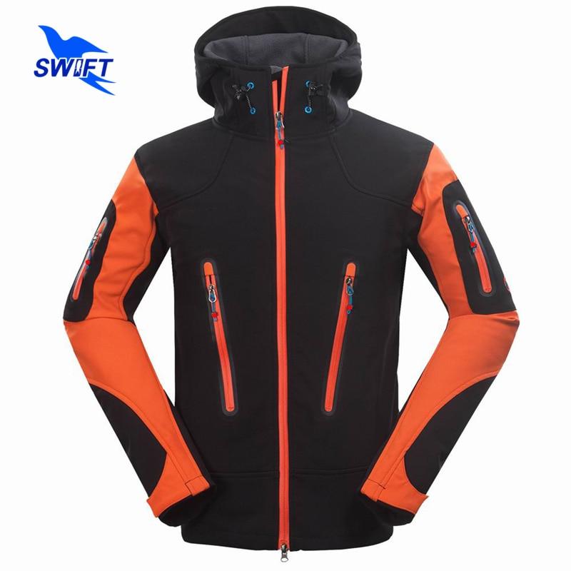 2016 New Waterproof Outdoor Climbing Mountain Hiking Clothing Tech Fleece Softshell Jacket Men Sport Fishing Hunting Ski Clothes