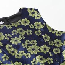 New  Women dress Elegant Slim high waist party dress Fashion Sleeveless vintage floral dress