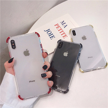 6 case clear crystal anti knock for iphone 7 colorful transparent shockproof soft 8 6s plus x xr xs max
