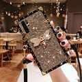 Glitter Crossbody lanyard Case for Huawei P30 P20 Pro Luxury Bling Sequins Diamond Phone Case for Huawei P30 Girl Cover Fundas