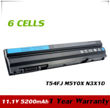 JPYUASA 11.1V 5200mAh Laptop Battery T54FJ M5Y0X N3X1D P9TJ0 For Dell Latitude E6420 E6520 E5520 E5420 E6430 E6530 NHXVW P8TC7(China)