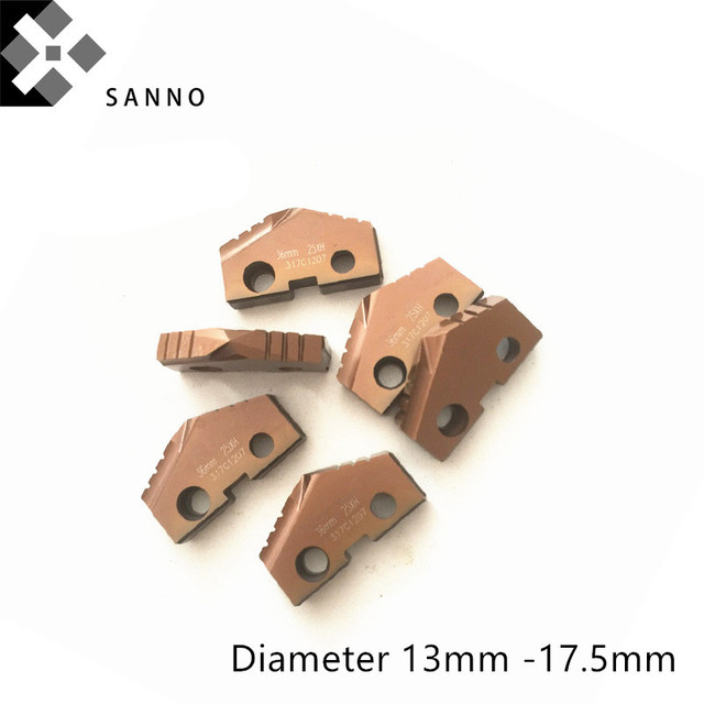 Diameter 13mm - 17.5mm cnc  spade drill insert T-A Drill Inserts quality as Allied Machine and Engineering