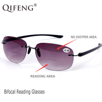 c9d5ae3c91 QIFENG Bifocal Reading Glasses Women Sunglasses Diopter Presbyopic  Eyeglasses Female Degree Eyewear 1 0 1 5. Gafas de lectura ...