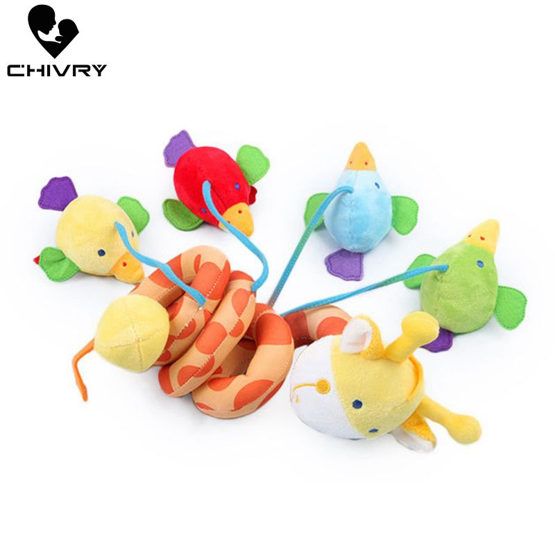 Chivry Cute Giraffe Baby Crib Revolves Around The Bed Stroller Plush Stuffed Rattles Bed Toys Baby Plush Dolls Hanging Bell Toys