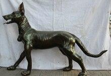 USPS to USA S2534 44″ Larger Chinese Bronze Folk animal Zodiac Year door Pet Dog sculpture Statue (B0413)