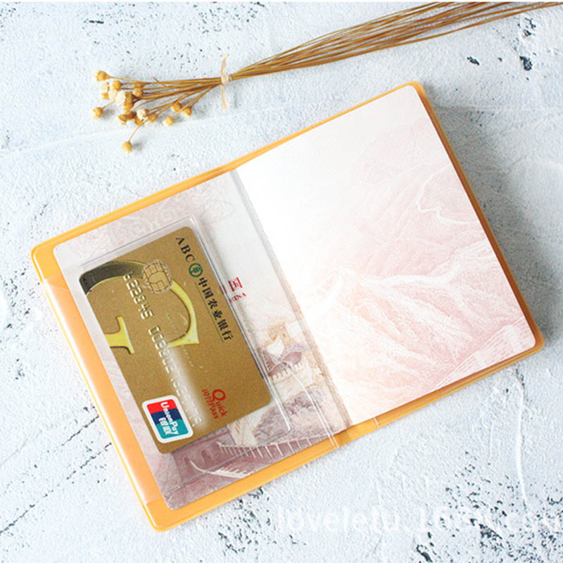 Women Passport Cover Candy Color 3D Design Silicone Passport Holder Cute Travel Checkbook Waterproof Cover Wallet Bags