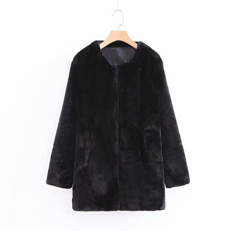 Jackets & Coats Basic Jackets Sweet-Tempered Fashion Women Xz65-1794 European And American Fashion Wind Long Fur Coat