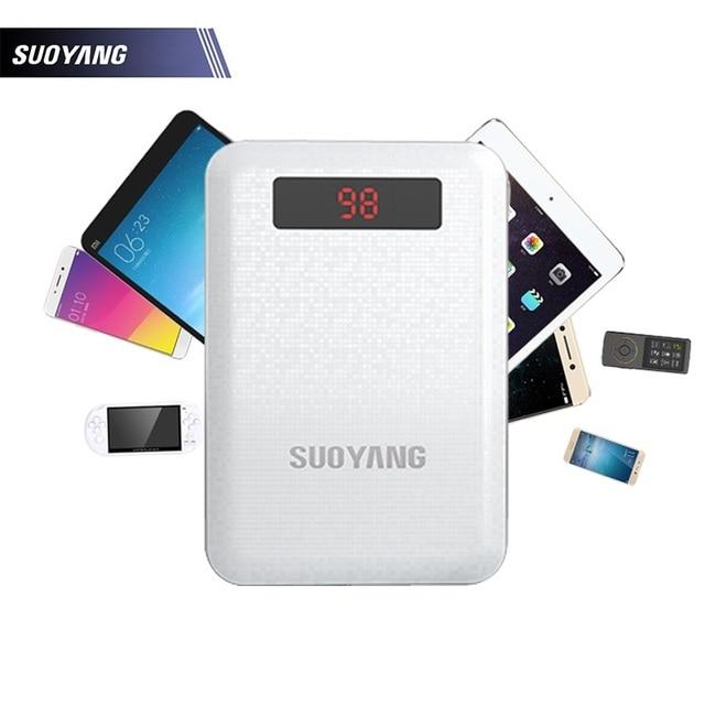SUOYANG Power Bank 10000 мАч Universial Dual USB Порт Выход Быстрое Зарядное Устройство со СВЕТОДИОДНОЙ подсветкой Телефонов Батарея для iPhone 6 6 s 6 plus
