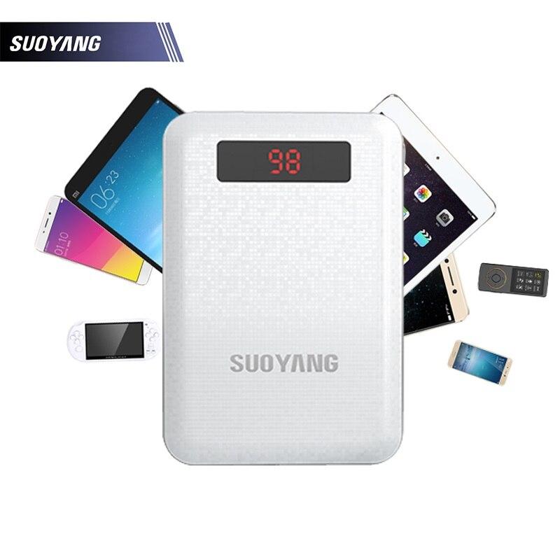 bilder für Suoyang energienbank 10000 mah universial dual usb port output schnelle ladegerät mit led-beleuchtung telefone batterie für iphone 6 6 s 6 plus