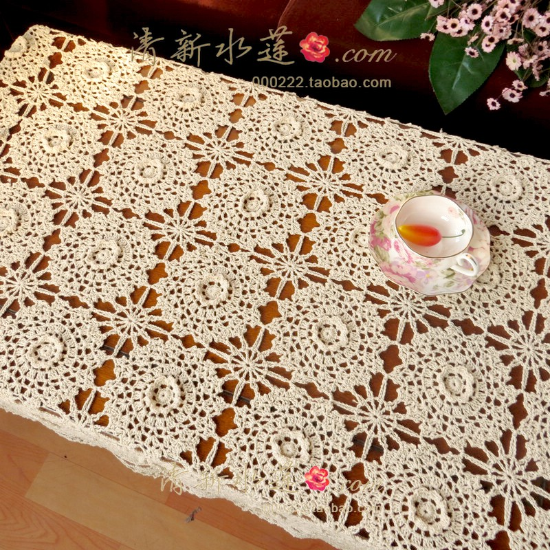 Free shipping cotton crochet beige 3d table cloth flower dining free shipping cotton crochet beige 3d table cloth flower dining table cloth table cloth cover cutout overlay table cover runner in tablecloths from home ccuart Choice Image
