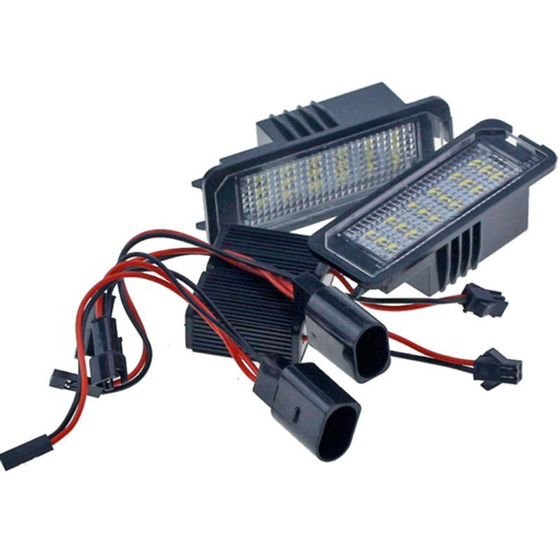 2x18SMD lampes de plaque d'immatriculation de LED sans erreur V ~ W Golf MK4 MK5 MK6 Passat Po. lo CC Eos SciroccoLicense plaque d'immatriculation