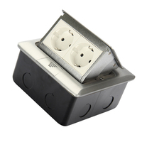 2 Way Electrical Outlet Modular Combination Customized Available Sockets Aluminum Panel EU Standard Pop Up Floor Socket