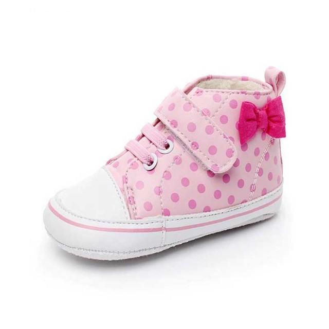 2017 Nova Primavera Moda Bebê Meninas Calçados Outono Inverno Bebês sapatos Para Bebê Menina Tênis Casual Bow Primeiro Walkers Criança 11-13