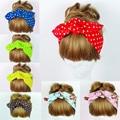 women fashion Print Dot Hairband Turban Bow Knot Headband DIY Head Wrap headwear Hair Accessories