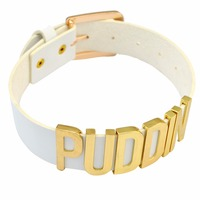 Punk White Leather Choker Necklace Suicide Squad Clown Collar Belt PUDDIN Necklaces For Women Jewelry Halloween