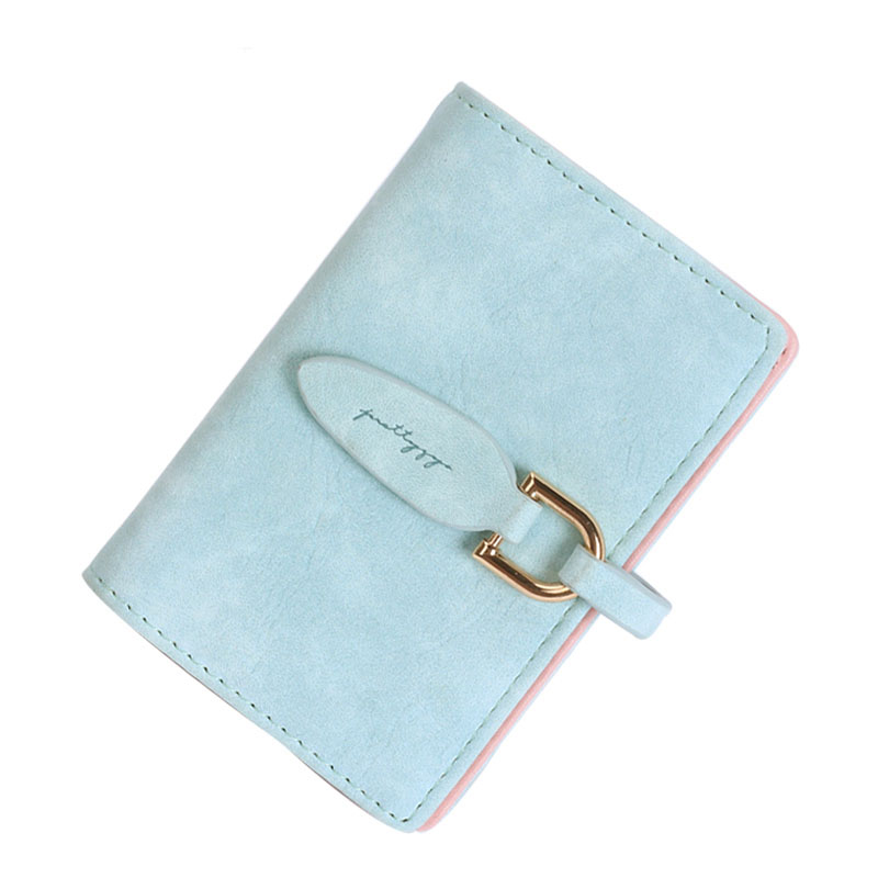 Women Wallets Leather Short Card Holder Credit Scrub High Quality 2017 Female Purse Letter Small Candy Color Girl Photo Casual