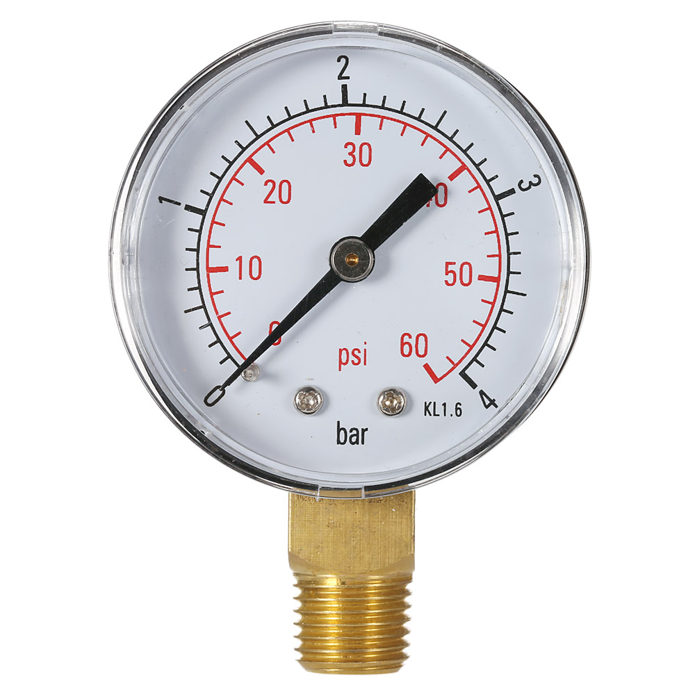 50mm manometer pool filter water pressure dial hydraulic. Black Bedroom Furniture Sets. Home Design Ideas