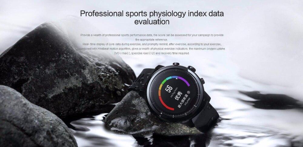 Nouvelle montre de sport intelligente Huami Amazfit Stratos 2 5ATM résistant à l'eau 1.34 '2.5d écran GPS première montre intelligente de natation - 4