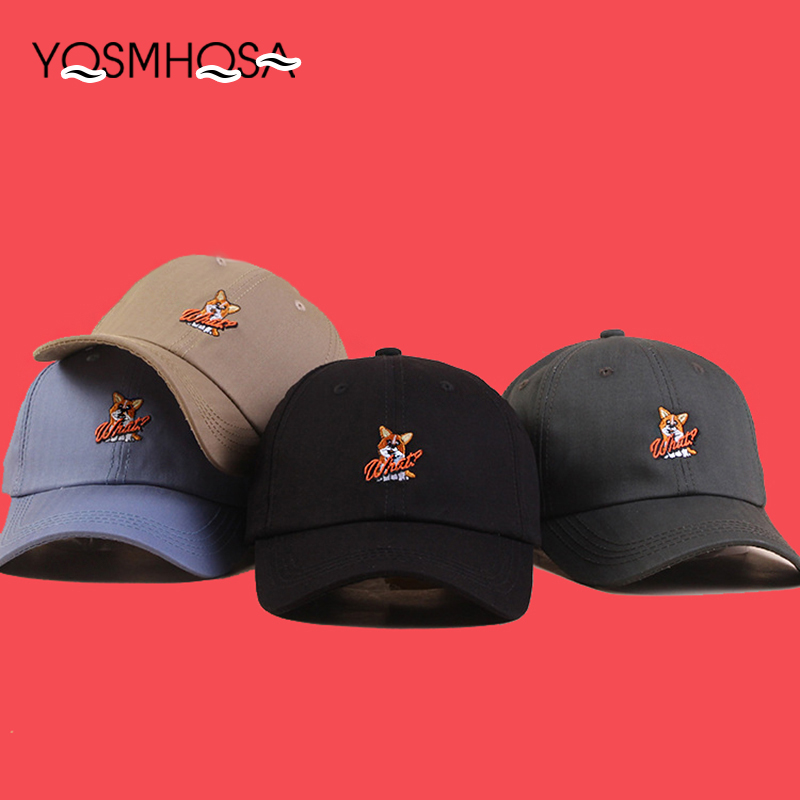 Apparel Accessories Fashion Cute Dog Animal Baseball Cap Gorras Men Women Baseball Cap Cotton Spring Summer Black Baseball Snapback Caps Hats Wh069 Good For Antipyretic And Throat Soother