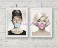 5D Full Diamond Painting Monroe And Hepburn Kits Handmade Needlework DIY Diamond Embroidery Resin Rhinestone Mosaic