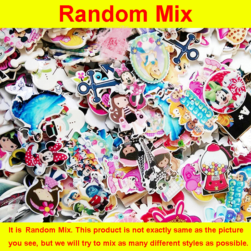 100 Pieces Mixed Assorted Cartoon Character Planar Resin Flatback DIY Crafts Flatback Resins For Home Decoration Accessories