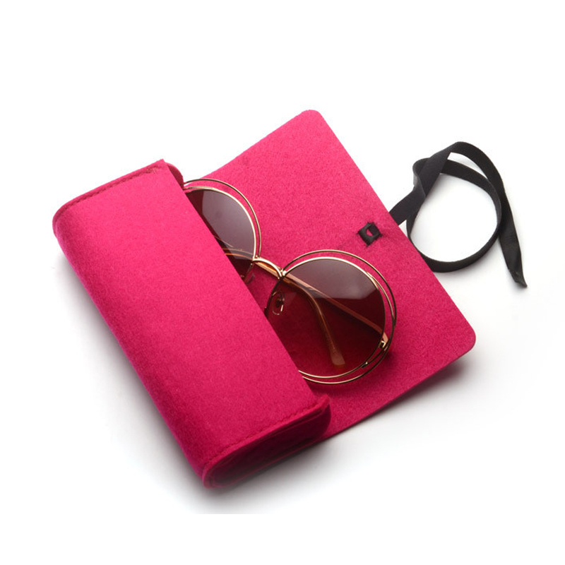 New Felt Sunglasses Case For Women Kleurrijke Candy Brillen Doos - Kledingaccessoires - Foto 5