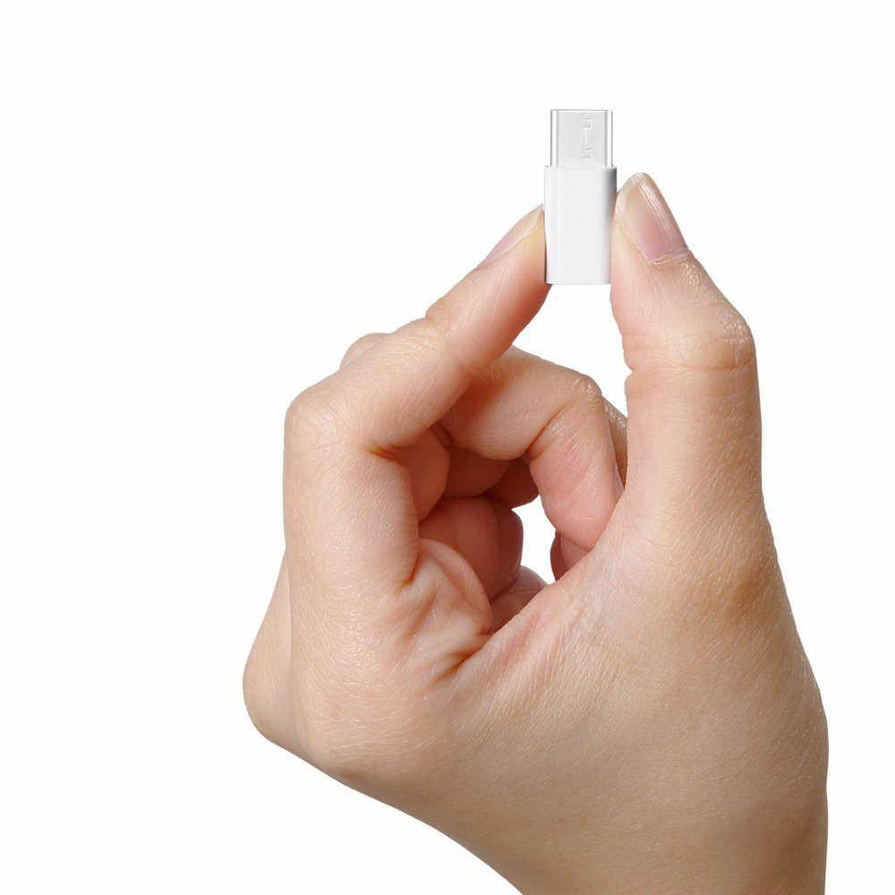 الأبيض 2 قطع نوع USB-C-c إلى مايكرو بيانات usb شحن محول محول ل oneplus 3 ثلاثة ل xiaomi Mi5 4c ل meizu برو 6 # uo