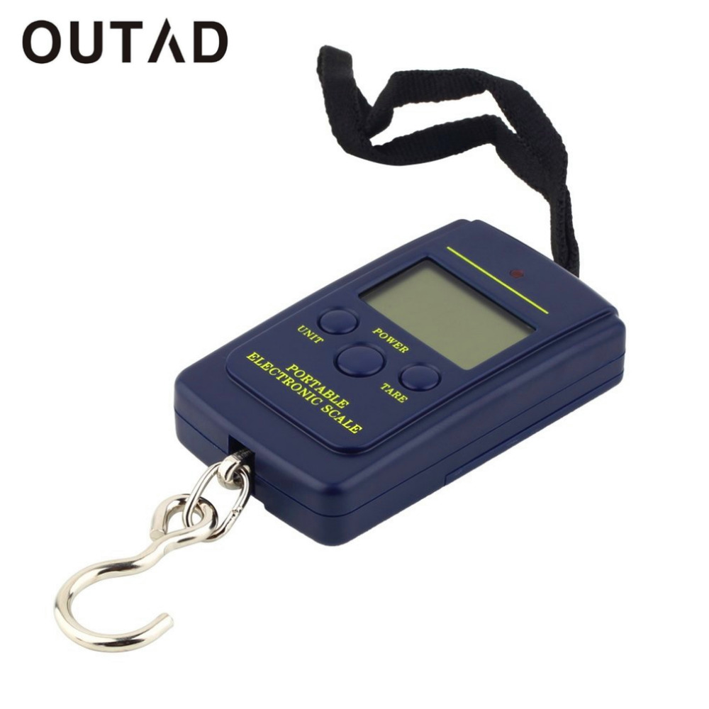 OUTAD Digital-Scale Electronic Mini Hanging 40kgx10g Fishing-Hook Portable