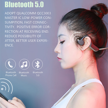 10pcs/lot J20 Bluetooth headphones 5.0 Bone Conduction Headsets Wireless Sports earphones Handsfree HeadsetsSupport