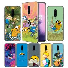 Adventure Time Finn Jake Soft Black Silicone Case Cover for OnePlus 6 6T 7 Pro 5G Ultra-thin TPU Phone Back Protective