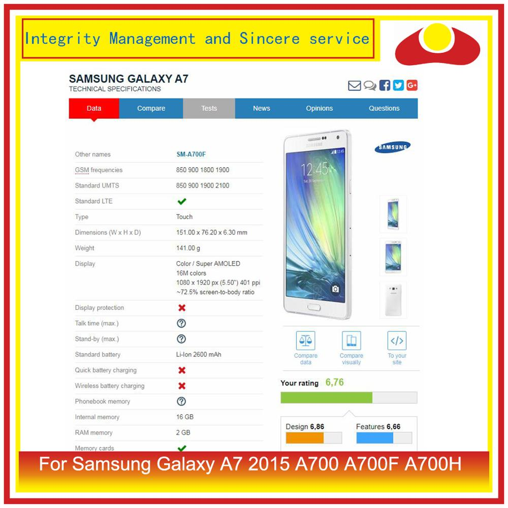 Image 3 - ORIGINAL For Samsung Galaxy A7 2015 A700 A700F SM A700F LCD Display With Touch Screen Digitizer Panel Pantalla Complete Assembly-in Mobile Phone LCD Screens from Cellphones & Telecommunications