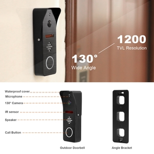 Image 4 - HomeFong 7 Inch Wifi Video Intercom Smart Video Door Phone System Wide Angle Door Camere Motion Detect RealTime Control by Phone