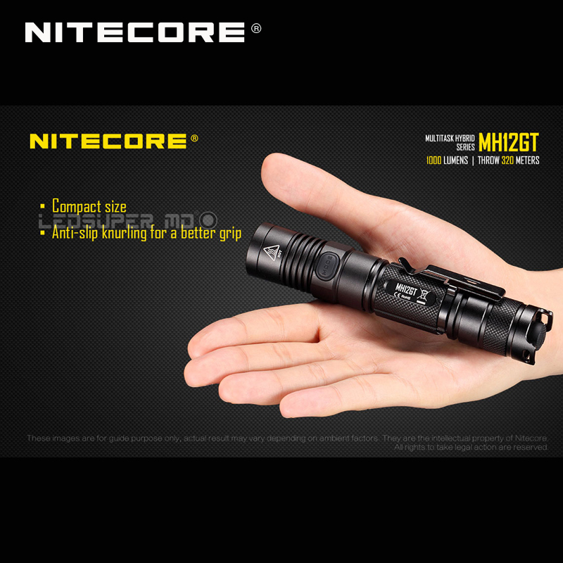 RECENT PRODUCT 2017 NITECORE MH12GT CREE XP-L HI V3 LED 1000 Lumens USB Rechargeable Flashlight with 3400mAh Battery   Islamabad