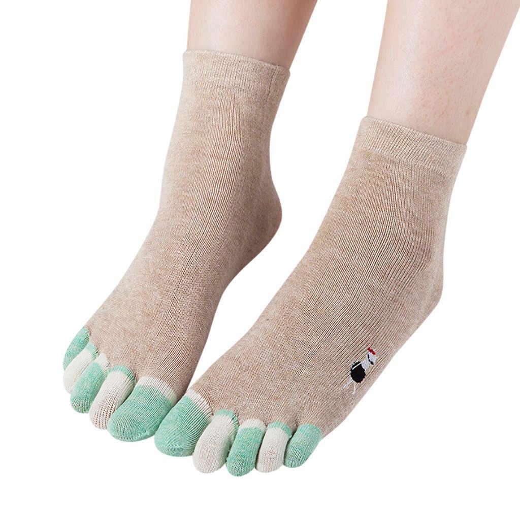 Разноцветные носки с принтом кота, носки с пятью пальцами, теплые хлопковые носки, Harajuku, милые хлопковые носки для девочек, магазин vaatteet
