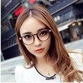 2016 Классический Ретро Прозрачные Линзы Nerd frame очки модный бренд дизайнер мужчины женщины Очки Старинные Половина Металлический Каркас Очки