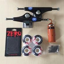 2016 Free Shipping Skateboard Parts Royal Aluminum 5.25″ Skate Trucks Element PU Skate Wheels Toy Machine ABEC-5 Bearings
