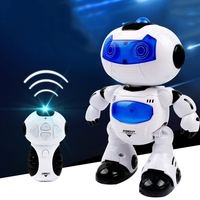 RC Robot Electronic Toy Robot Dancer Musical Walk Dancing Musical Electric Robo Lighten Electronic Games Kids Children Boy Gift